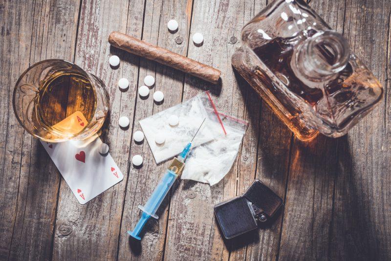 Drogen-, Alkohol oder Medikamentensucht