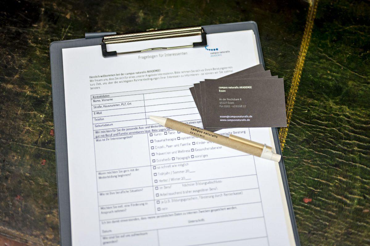 Formular Ausbildung/Seminar